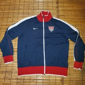 Nike USA Soccer Zip Up Sweater Jacket